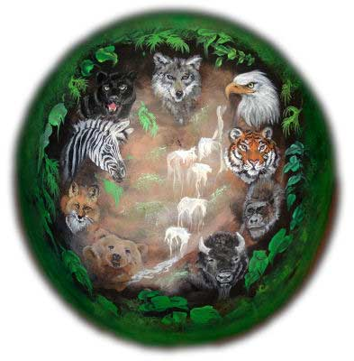 Belly Painting Jungle Animals Waterfall